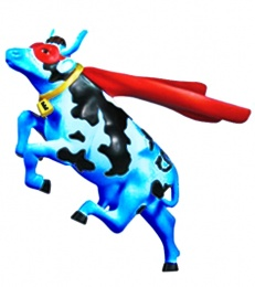 Flying Blue Cow